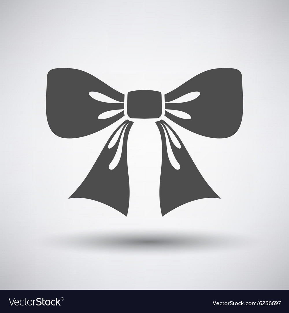 Party bow icon vector