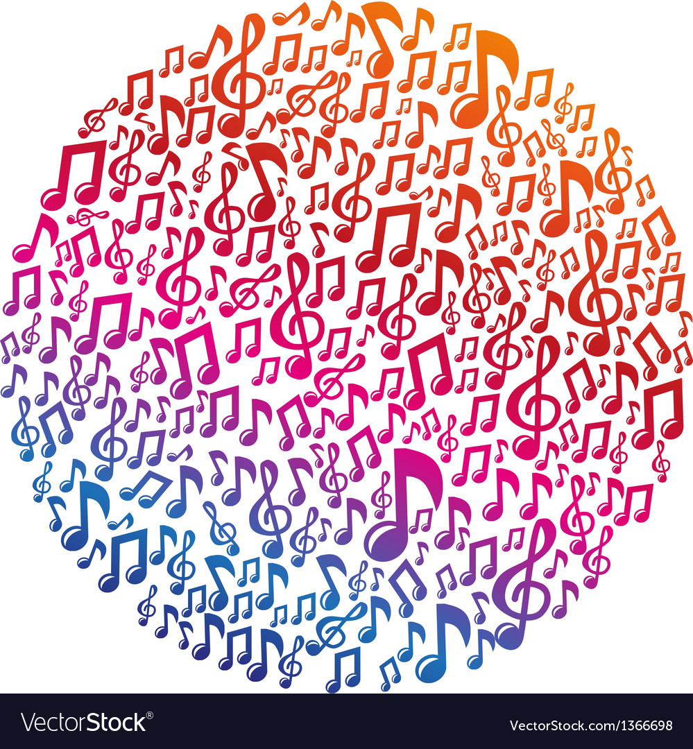 Music concept  musical notes vector