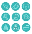 round icons set Isolated drawings flat vector image