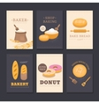 Collection of cards shop bakery vector image