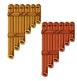 Pan flute made of bamboo vector image