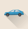 flat style car icon vector image vector image