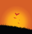 bat in the nature vector image