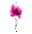 Watercolor sketch of a fashion model vector image vector image