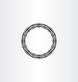 black circle ring abstract background vector image