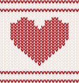 heart knitted pattern vector image vector image
