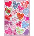 ornament hearts card 380 vector image