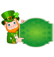 St patricks leprechaun vector