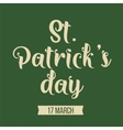 St Patricks day typography design vector image