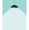 Black ceiling lamp cartoon drawing by hand vector image