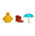 cartoon autumn symbol objects set isolated vector image