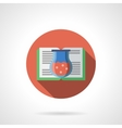 Potions book round flat color icon vector image