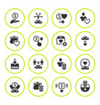 set round icons of charity and donate vector image