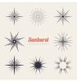 Vintage sunburst design elements collection with vector image