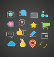 Different simple web icons collection Flat design vector image vector image