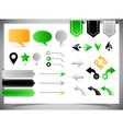 Collection of arrows markers and pointers vector image
