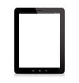 tablet computer black vector image vector image
