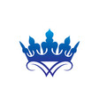 crown logo vector image