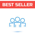 business man icon line vector image
