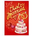 wedding greetings card vector image vector image