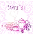 beautiful vintage banner with tea vector image