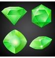 Set of green gemstones vector image