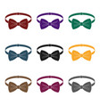 bow tie icon in black style isolated on white vector image