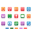 contact button icons set vector image