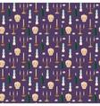 Old vintage candles pattern vector image