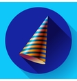 Party hat icon long shadow vector image