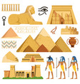 pyramid of egypt history landmarks cultural vector image