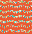 Seamless pattern of festive garlands vector image