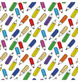 seamless pattern of many colored pencils vector image