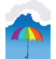 Umbrella background vector image vector image