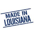 made in louisiana stamp vector image