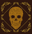 Leaf and Ornamental Skull vector image vector image