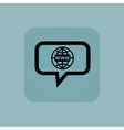 Pale blue global network message vector image