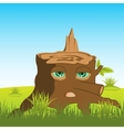 Cartoon stump with eye vector image vector image