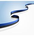 Estonian flag background vector image vector image