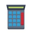 calculator financial number maths symbol vector image