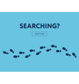 Concept of searching Internet banner Start here vector image