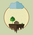 farm oasis vector image