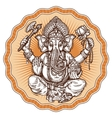 Ganesh Chaturthi hand-drawn sketch religious vector image