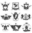 Heraldic Black White Labels vector image