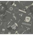 Metal work tools background Seamless pattern vector image