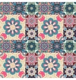 Seamless pattern on the tiles majolica arabic vector image