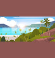 tropical landscape summer seaside beach with palm vector image