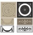 decorative pane set vector image
