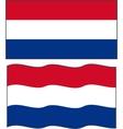 Flat and waving Dutch Flag vector image vector image