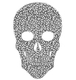 Gray Leaf Skull vector image